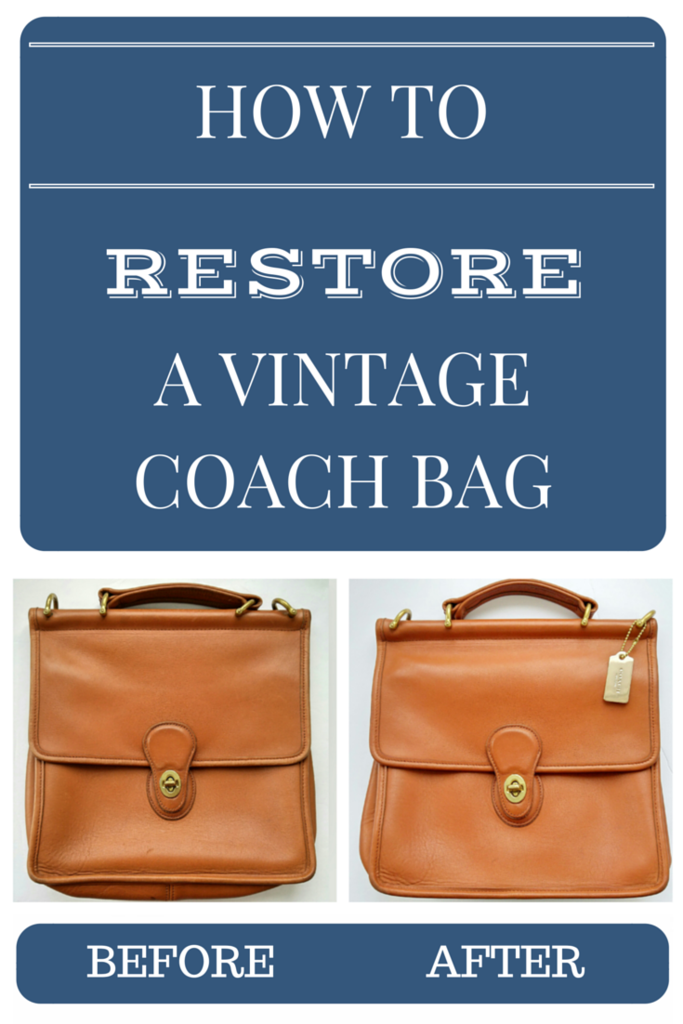 How to restore a Vintage Coach Bag Coach Willis bag Style #9927 in British Tan