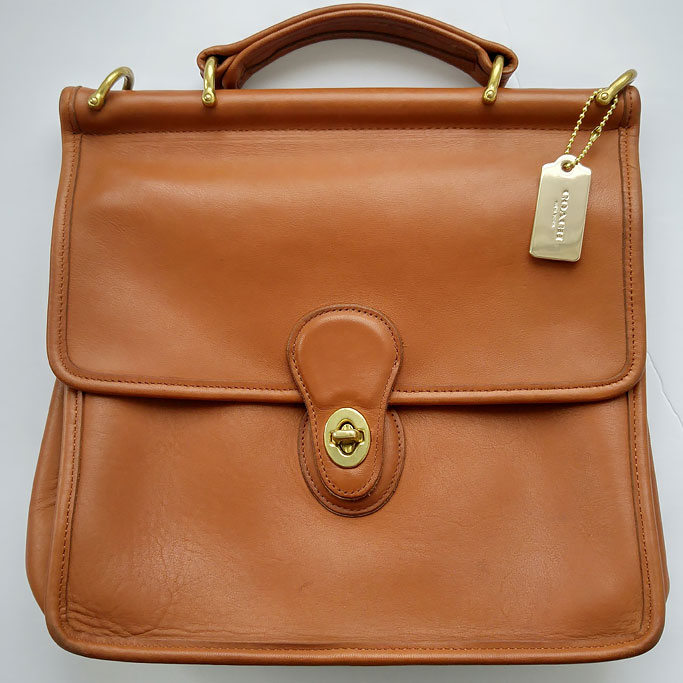 How to restore a Vintage Coach Bag step-by-step instructions Coach Willis bag Style #9927 in British Tan