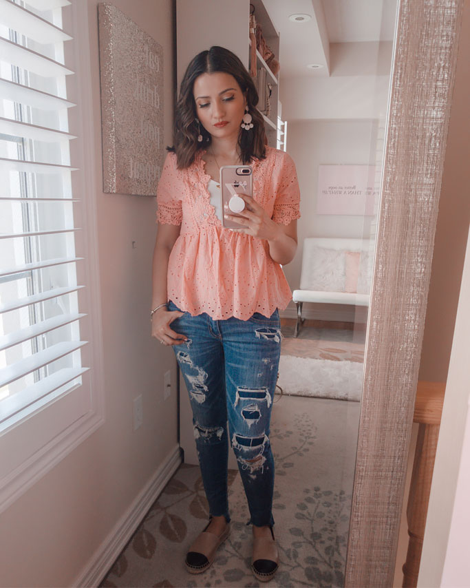 Amazon-Fashion-Peach-Shirt