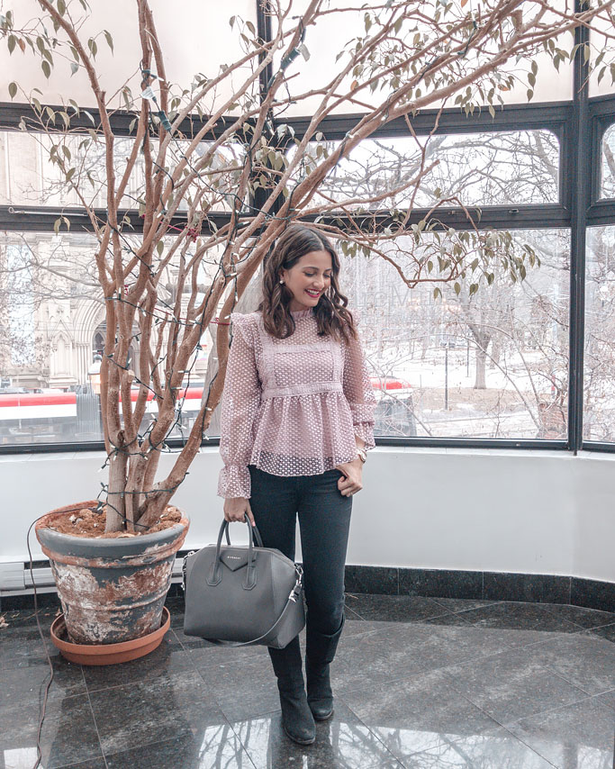 Chicwish-Pink-Ruffle-Top-Blogger-Outfit