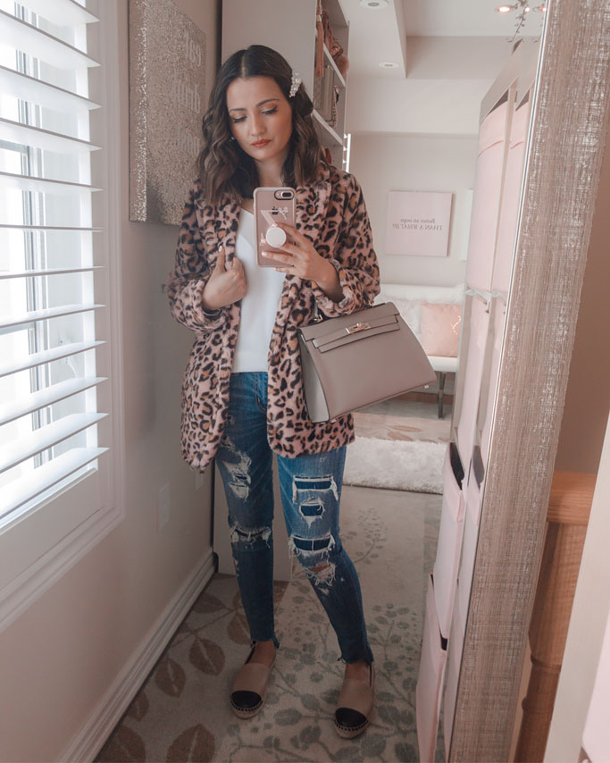 Pink Leopard Coat Animal Print Fall 2019 Trend Blogger Outfit