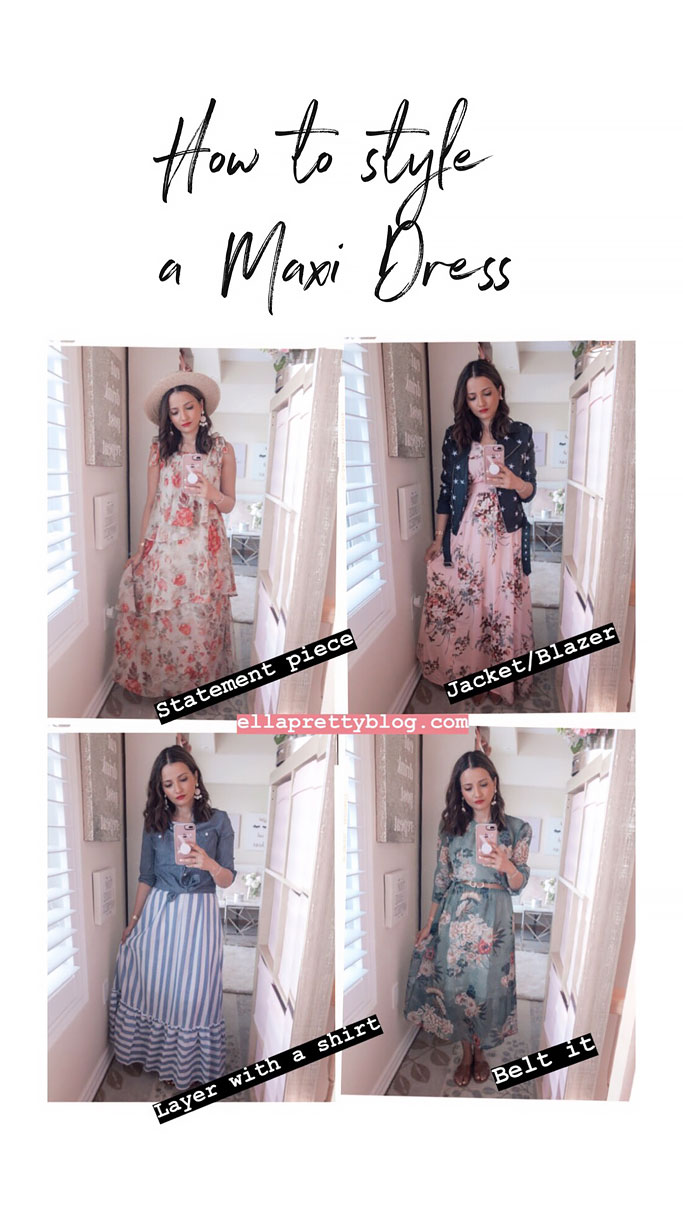 Tips on how to style a maxi dress blogger outfit