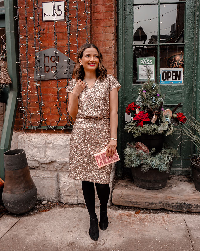 Holiday Party Outfit Ideas – RW&CO Sequin Cocktail Dress