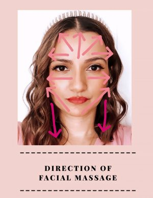 How to Use Facial Rollers - direction of facial massage