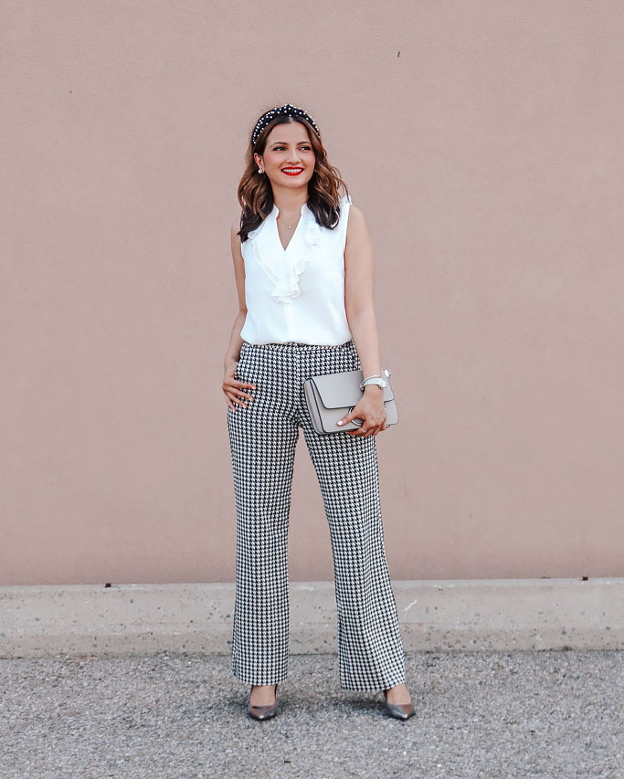 cabi-fall-2020-portrait-blouse-houndstooth-trouser-blogger-outfit