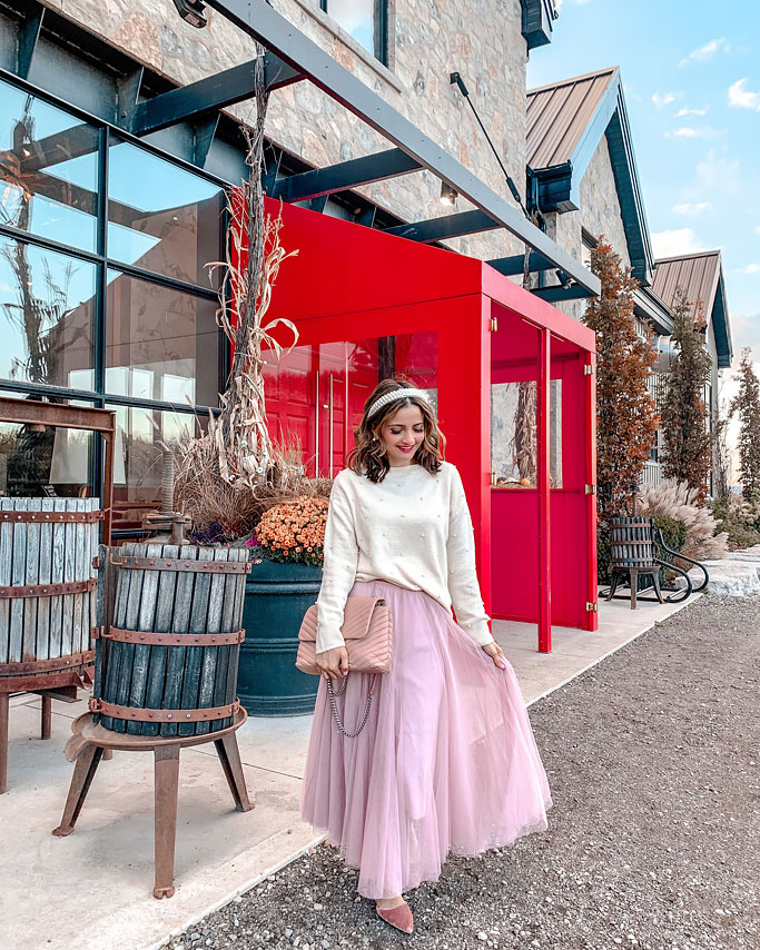 How to style a tulle skirt minkoff edie bag-blogger-outfit