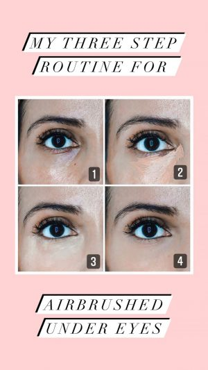 Three steps to brighter under eyes product review using Vasanti eye wonder, VO2 dark circle eraser and Lotus Brightening Powder
